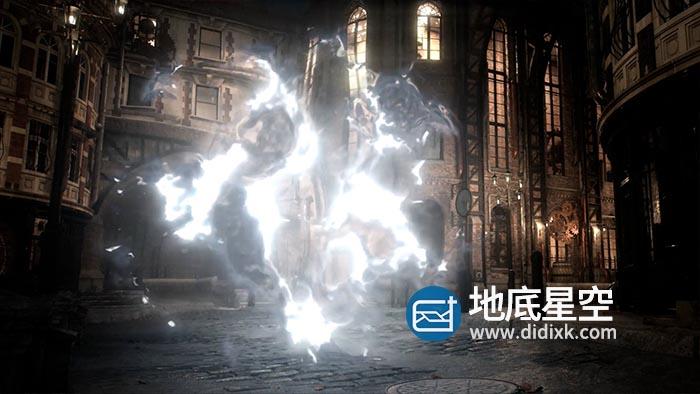 AE模板-哈利波特魔法魔幻神仙法术能量烟雾闪电保护罩粒子冲击波水花传送门特效动画 Particular