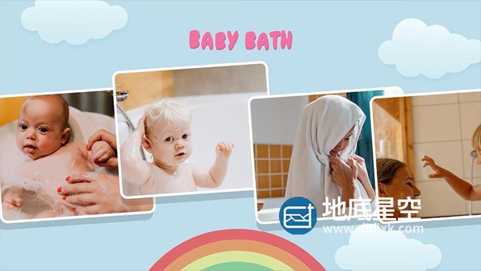 AE模板-多彩时尚卡通儿童婴儿照片创意视频相册片头 Autumn Baby Collection B161